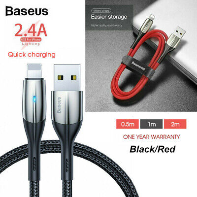 AU8.99 • Buy Baseus Lightning Cable Fast Charging Charger Cord For IPhone XS XR 8 7 6 IPad AU