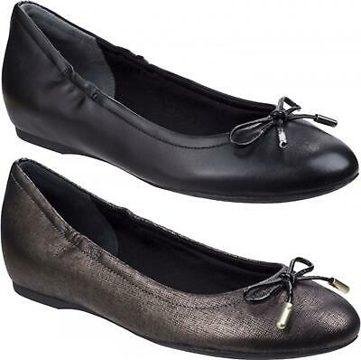 Rockport TIED Ladies Womens High Quality Smooth Leather Casual Ballerina Shoes • 65£