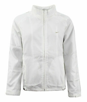 Nike Track Top Zip Up Jacket Womens White Windrunner 262783 100 Y17A • 16.99£