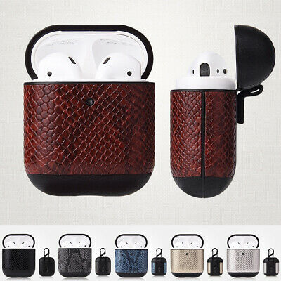 $ CDN6.23 • Buy Snake Skin Leather Cover For Apple AirPods 2 1 Wireless Charging Case Airpod Box