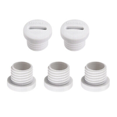 $7 • Buy M12x1.5mm Nylon Male Threaded Cable Gland Screw End Cap Cover White 5pcs