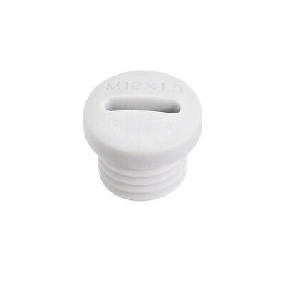 $6.75 • Buy M12x1.5mm Nylon Male Threaded Cable Gland Screw End Cap Cover White