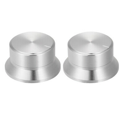 $ CDN10.94 • Buy 2pcs Potentiometer Knobs Volume Control Knob Amplifier Guitar Silver Tone