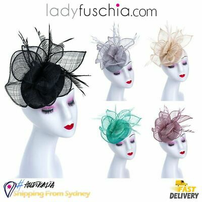 AU19.95 • Buy Women Wedding Party Race Melbourne Cup Feather Headband Hairband Clip Fascinator