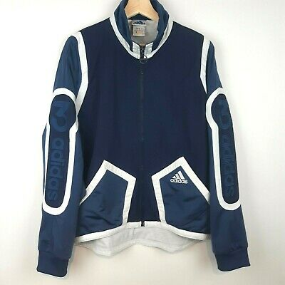 $ CDN39.97 • Buy Vintage Adidas 90s Mens Size M Jacket Blue White 3 Stripe Spellout Germany