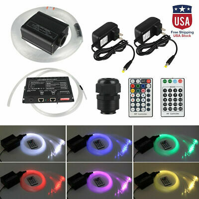 16W RGBW LED Fiber Optic Cable150pcs*0.75mm*2m+ Shooting Stars Ceiling Light Kit • 105.45$