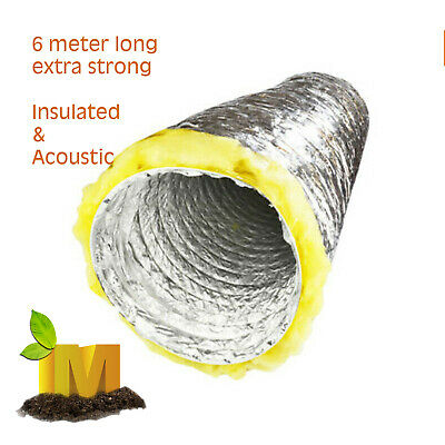 AU64.90 • Buy HYDROPONICS Acoustic Insulated Ducting HYDROPONIC INLINE VENTILATION FAN DUCT