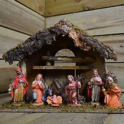£31.72 • Buy 8 Piece Traditional Nativity Scene Figures And Stable Christmas Decoration Set