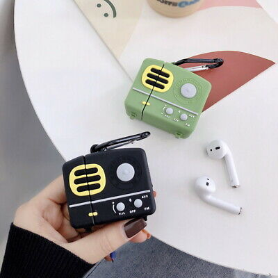 $ CDN6.60 • Buy Retro Radio Pattern Earphone Protector Soft Case Cover For Apple AirPods 1st 2nd