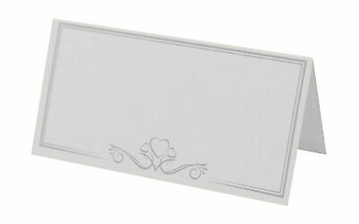 £4.75 • Buy Wedding Place Cards White Place Name Cards  Wedding Table Setting