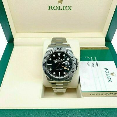 $ CDN11516.61 • Buy Rolex 42 MM Black Explorer II Stainless Watch Ref # 216570 Engraved Serial WCard