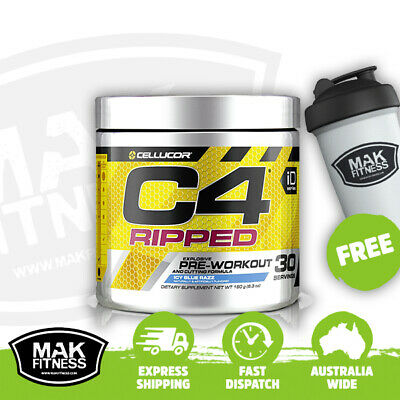 AU59.95 • Buy Cellucor C4 Ripped Creatine Free Pre-Workout Fat Burner | FREE Shaker & Shipping