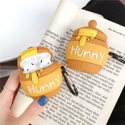 $ CDN8.53 • Buy Honey Pot Protective Case Silicone Cover Shells With Carabiner For Airpods 1/2