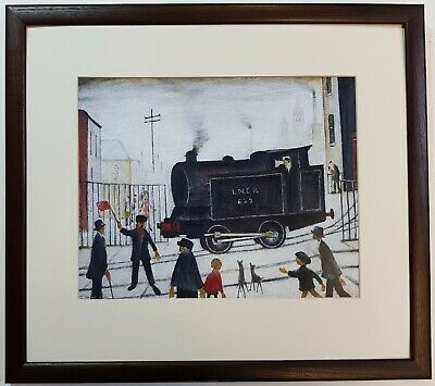 L.S Lowry LEVEL CROSSING 1946 Framed Print • 22£