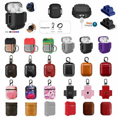 $ CDN6.59 • Buy For Apple AirPods Earphones Case Protective Silicone Cover With Strap Holder