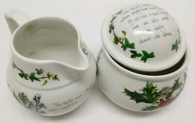 Portmeirion The Holly And Ivy Creamer And Sugar Set • 39.95$