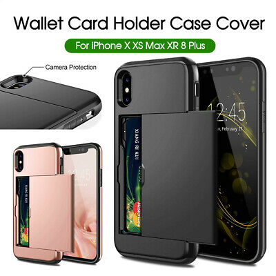 AU7.20 • Buy Holder Case Cover MC Wallet Card For IPhone XS Max X XR IPhone 8 8 Plus