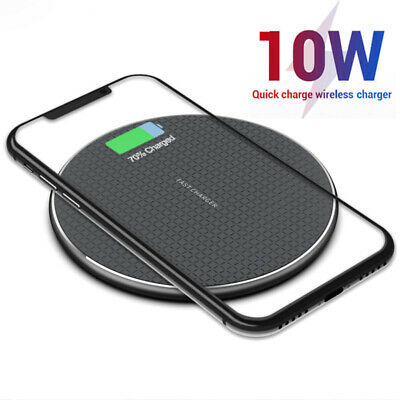 $ CDN6.31 • Buy For Samsung Galaxy Note 10 Plus 9 8 5 10W Fast Qi LED Wireless Charger Dock