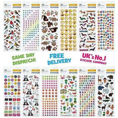 Fun Stickers Childrens Party Bag Kids Fillers Cars Transport - 23 Designs • 1.99£
