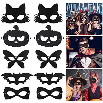 Amosfun Halloween Mask Animal Insect And Pumpkin Felt Masks Masquerade Cosplay • 13.42£
