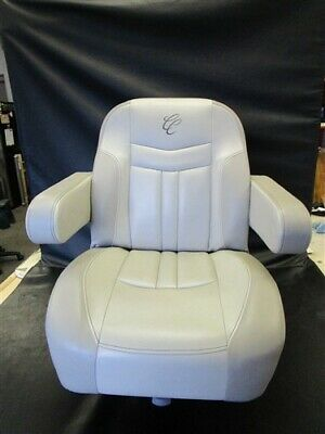 £360.48 • Buy Cypress Cay Captains Helm Seat W/ Attwood Electric Seat Slide Beige / Taupe Boat