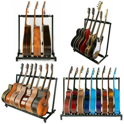 $ CDN71.24 • Buy 3/5/7/9 Triple/Five/Seven Multiple Guitar Bass Stand Holder Stage Folding Rack
