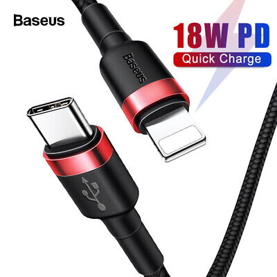 AU10.99 • Buy Baseus USB Type C To Lightning Cable QC3.0 PD Quick Charge Cable Fast Charging