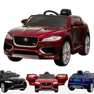 Licensed Jaguar F Pace Kids Electric Battery Ride On Car Leather Seat & Remote • 249£
