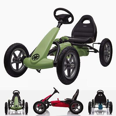 £159 • Buy RiiRoo Kids Ride On Pedal Go Kart With Rubber Tyres Adjustable Seat Hand Break