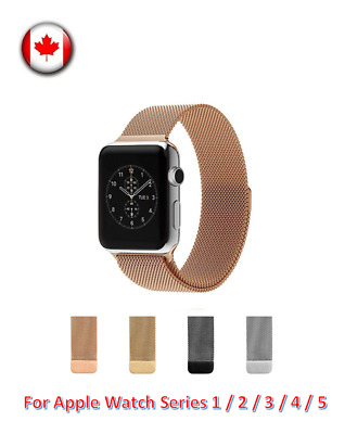 $ CDN8.99 • Buy Magnetic Stainless Milanese Loop Band Strap Apple Watch Series 1 / 2 / 3 / 4 / 5