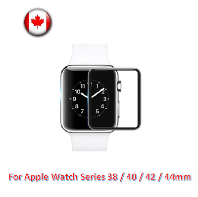 $ CDN4.99 • Buy For Apple Watch Series 38mm/40mm/42mm/44mm 3D Curved Screen Protector Glass