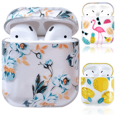 AU14.39 • Buy For Apple Airpods 1 2 Charging Case Clear Hard PC Cover Floral Flower Cute Girls