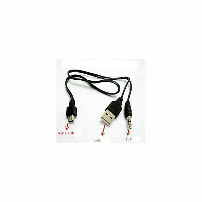 $6.99 • Buy 2 Pcs Mini USB To USB & 3.5mm Aux Charging Audio Cable For Mp3 Bluetooth Speaker
