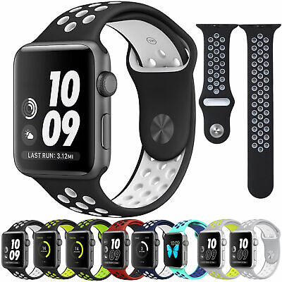$ CDN5.38 • Buy Sport Silicone IWatch Band 40mm 44mm 38mm 42mm For Apple Watch Series 5/4/3/2/1