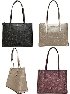 $ CDN180.66 • Buy Kate Spade Joeley Glitter Penny Large Top Zip Tote Handbag WKRU6278