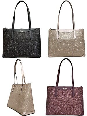 $ CDN125.30 • Buy Kate Spade Joeley Lola Greta Glitter Penny Large Top Zip Tote Handbag WKRU6278