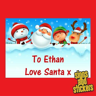 £2.50 • Buy 40 Personalised Christmas Stickers Gift Tags Xmas Parcels Santa Presents Labels