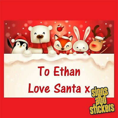£2.50 • Buy 40 Personalised Christmas Stickers Gift Xmas Parcels Santa Presents Labels Tags.