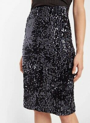 Y.A.S At ASOS Black Sequin Embellished Skirt Size 8 Tall BNWT RRP £55 • 24.99£