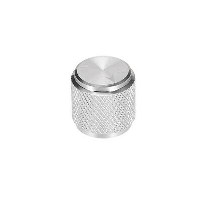$ CDN9.96 • Buy Potentiometer Knob Silver Tone Aluminum Volume Control Knob Amplifier Guitar