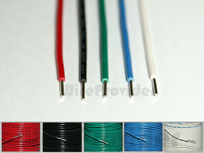 5m Kit 1/0.8mm Alpha Wire 20AWG 0.519mm² Single Solid Core Hook Up WP-230320 • 5.35£
