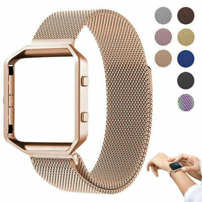 $ CDN11.34 • Buy For Fitbit Blaze Watch Stainless Steel Loop Wrist Band Frame Strap Replacement