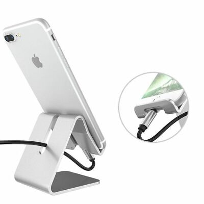 $5.35 • Buy Universal Cell Phone Tablet Desktop Stand Desk Holder Mount Cradle Aluminium Sil