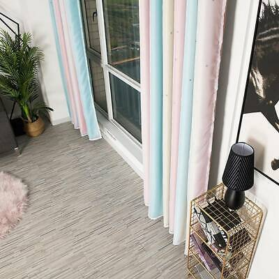 Bedroom Blockout Window Curtain Star Hollow Tulle Curtains Decor J • 14.72£