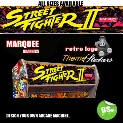 Street Fighter 2 Graphic Arcade Artwork Marquee Stickers Graphic / All Sizes   • 9.54£