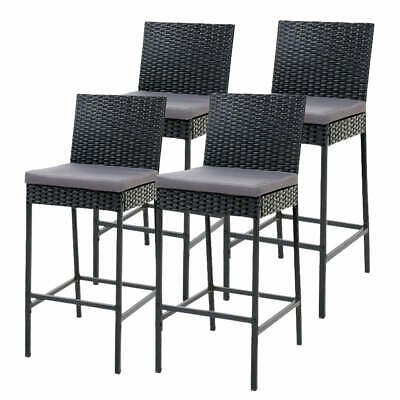 AU335.77 • Buy Gardeon Set Of 4 Outdoor Bar Stools Dining Chairs Wicker Furniture