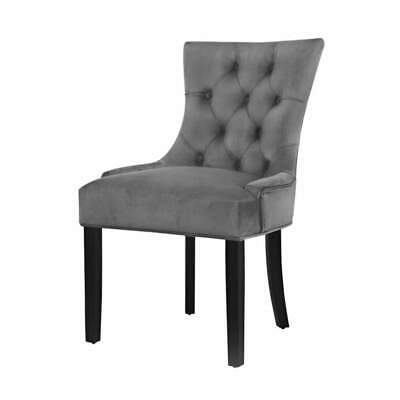 AU201.30 • Buy Artiss Set Of 2 Dining Chairs French Provincial Retro Chair Wooden Velvet Fabric