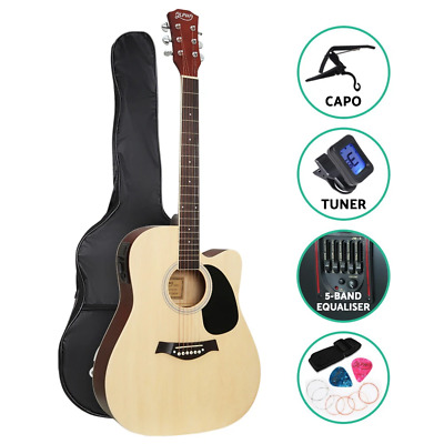 AU148.95 • Buy Alpha 41  Inch Electric Acoustic Guitar Wooden Classical With Pickup Capo Tuner