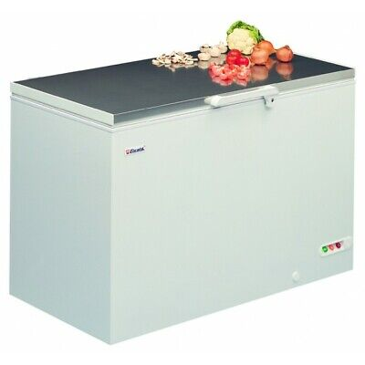 EL45SS 1.2m Commercial Chest Freezer Stainless Steel Top Restaurant Cater 447L • 799.99£