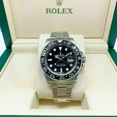 $ CDN16039.20 • Buy Rolex Ceramic GMT Master II Stainless Steel Watch 40MM Ref 116710 Scrambled